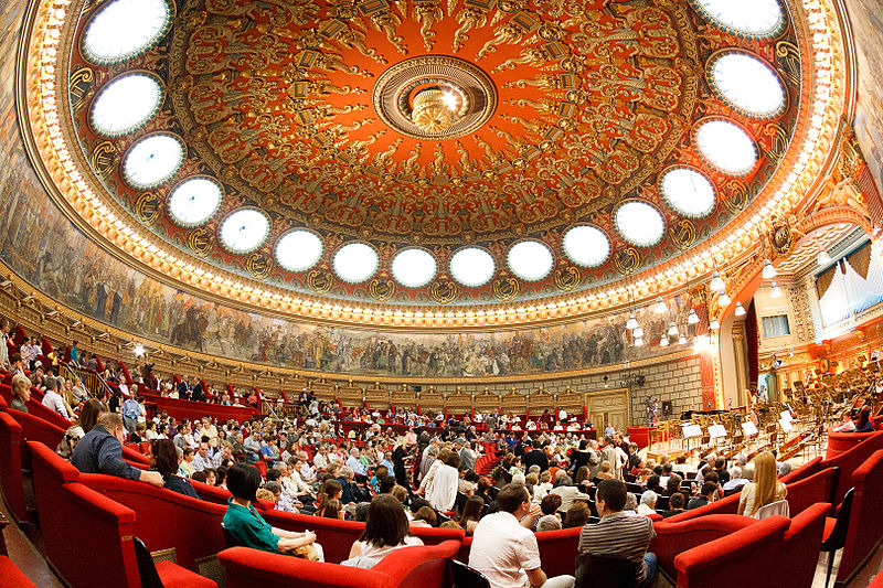 The Romanian Athenaeum Concert Hall. Photo from http://en.wikipedia.org/wiki/Romanian_Athenaeum